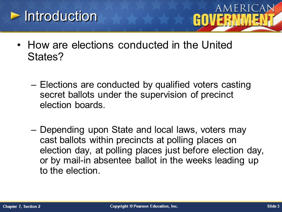 Introduction How are elections conducted in the United States