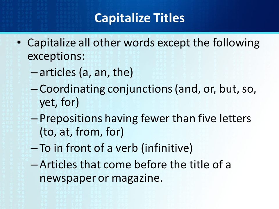 Capitalize Letters In Title