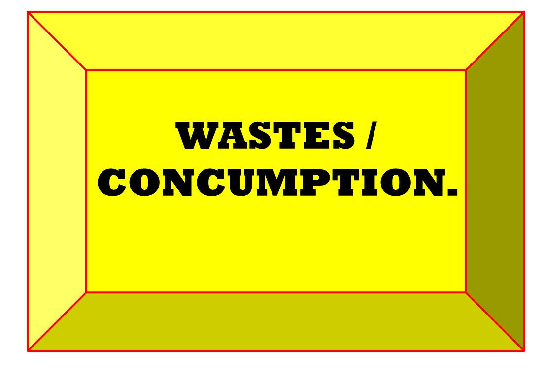 WASTES / CONCUMPTION.