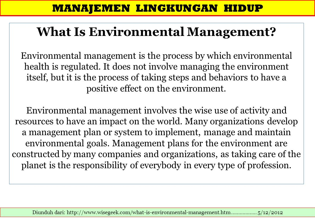 What Is Environmental Management