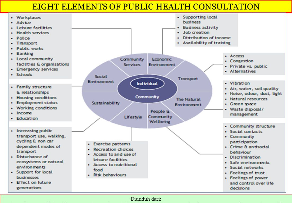 EIGHT ELEMENTS OF PUBLIC HEALTH CONSULTATION