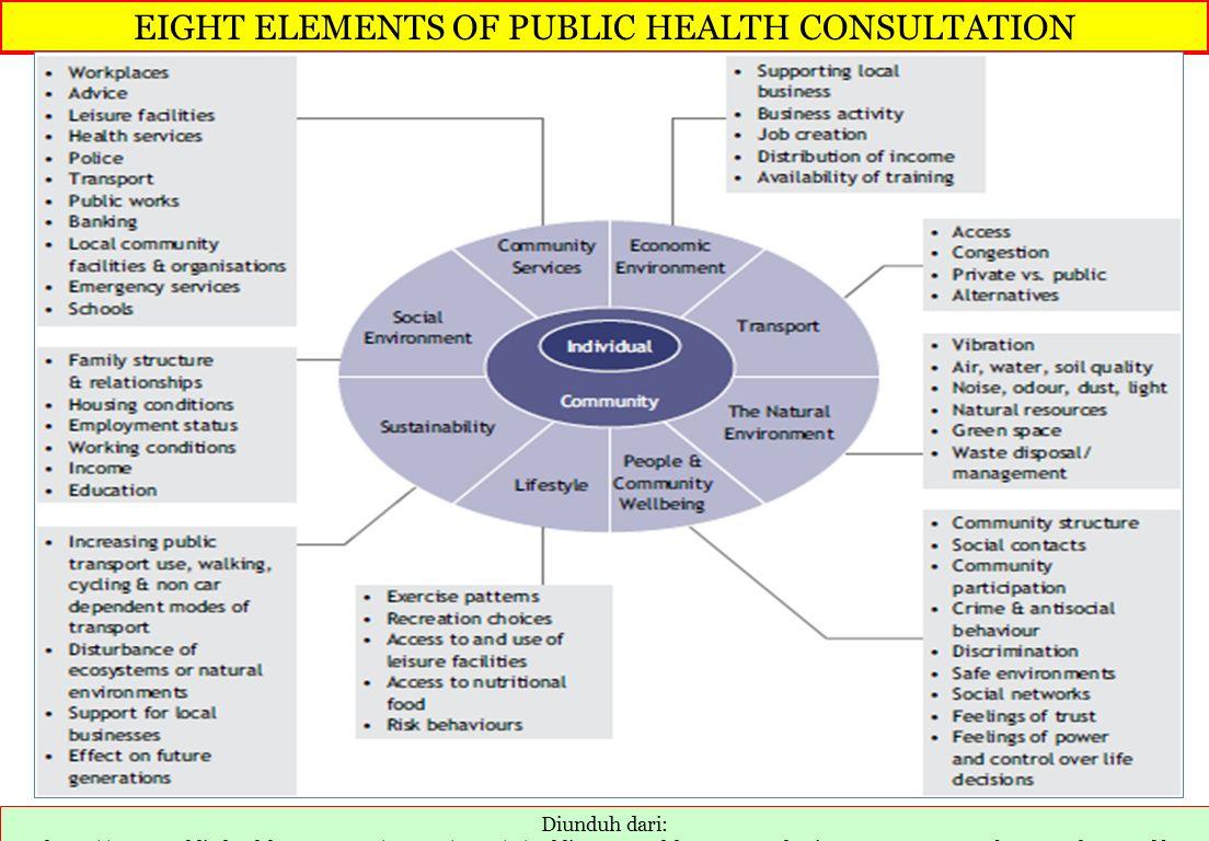 EIGHT ELEMENTS OF PUBLIC HEALTH CONSULTATION