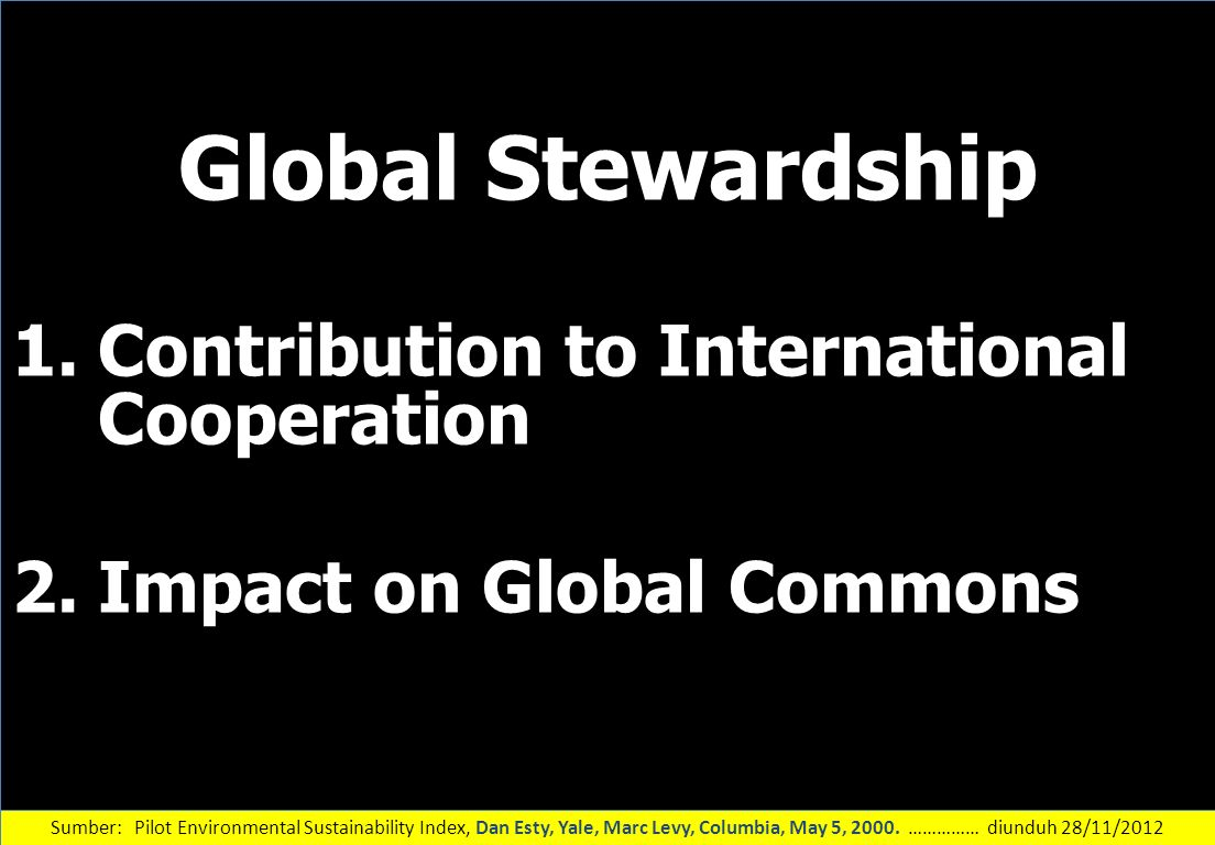 Global Stewardship Contribution to International Cooperation