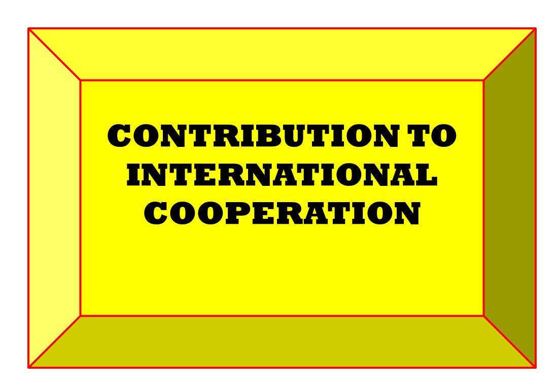 CONTRIBUTION TO INTERNATIONAL COOPERATION