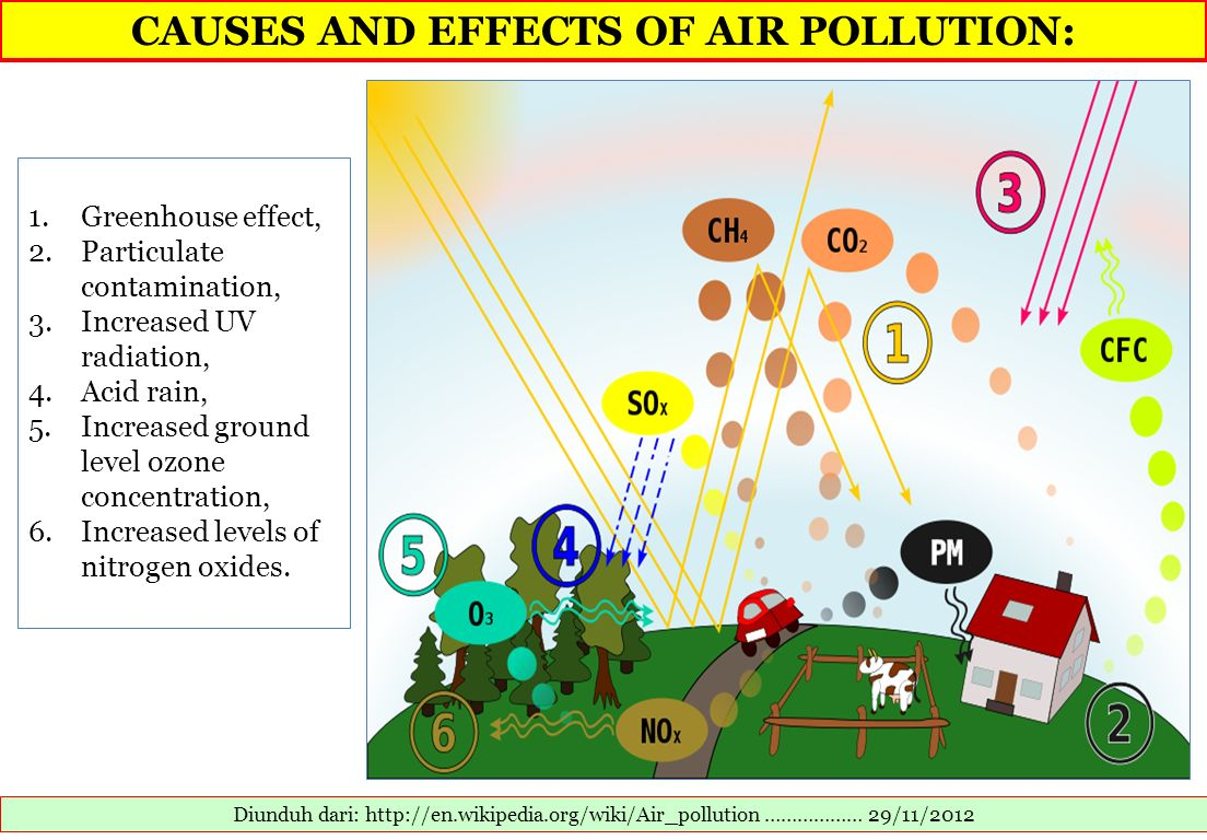 CAUSES AND EFFECTS OF AIR POLLUTION: