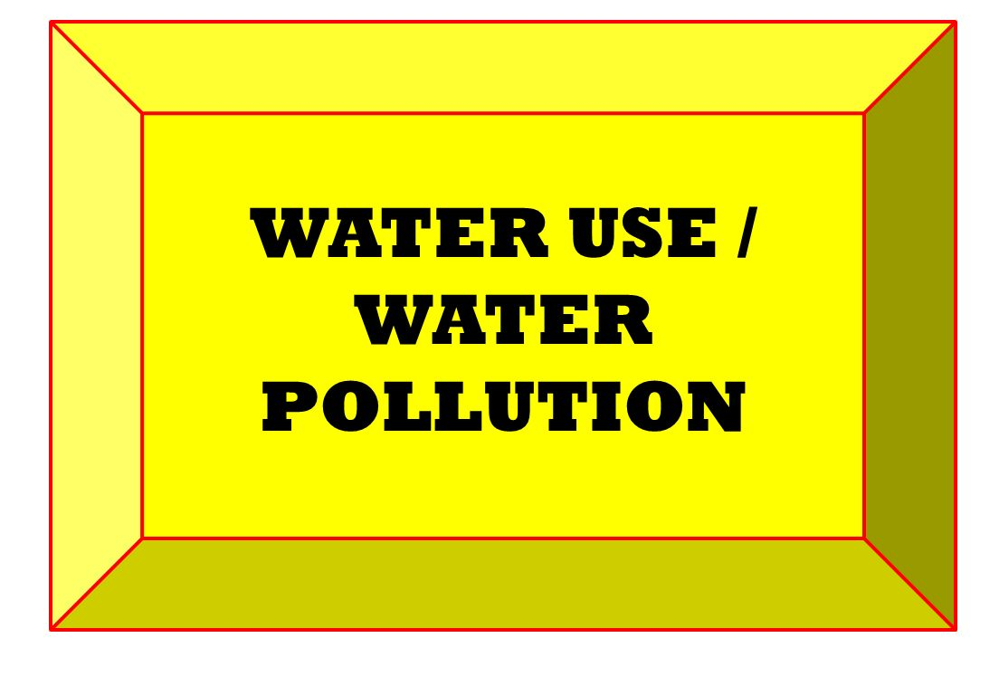WATER USE / WATER POLLUTION