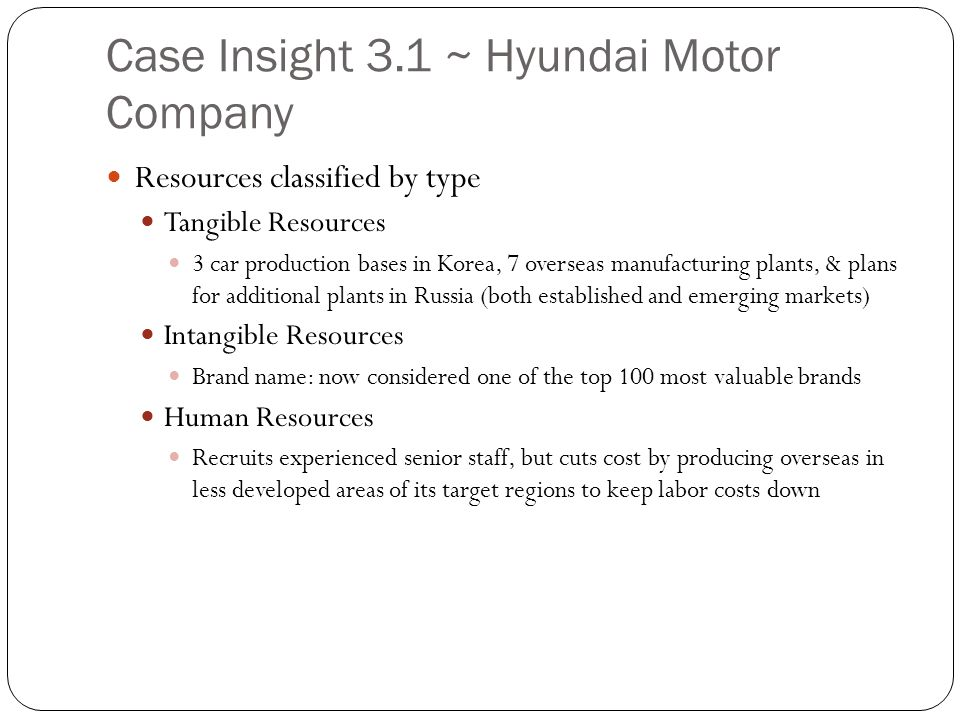 case study hyundai leading the way in the global car industry Hyundai: leading the way in leading the way in the global industry discuss hyundai and its position in the global car industry in terms of the.