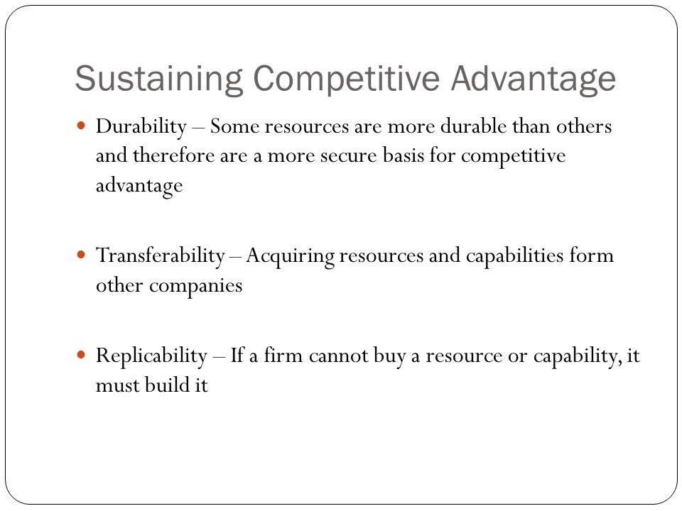 sustaining competitive advantage cargill as a  hr solutions that help cargill create a talent-based competitive advantage   develop and sustain valuable hr solution consultative and.