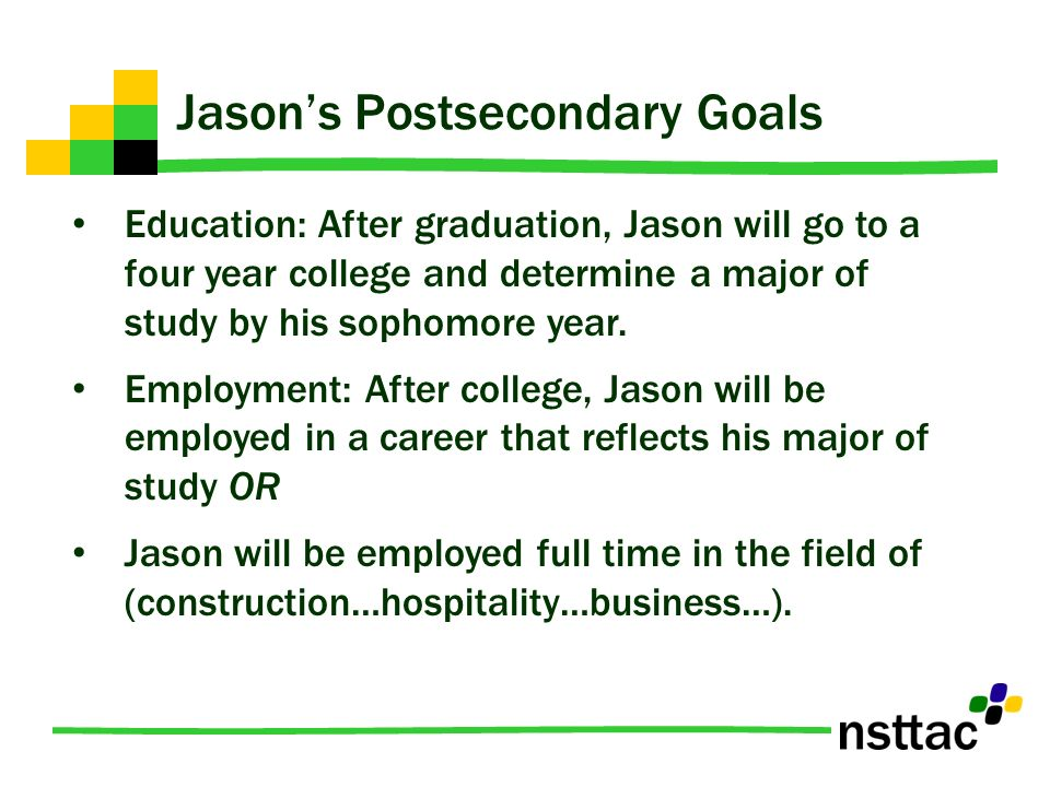goals after college