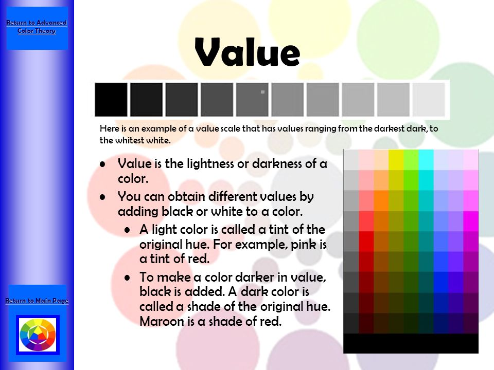Return to Advanced Color Theory