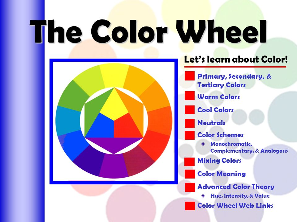 The Color Wheel Lets Learn About
