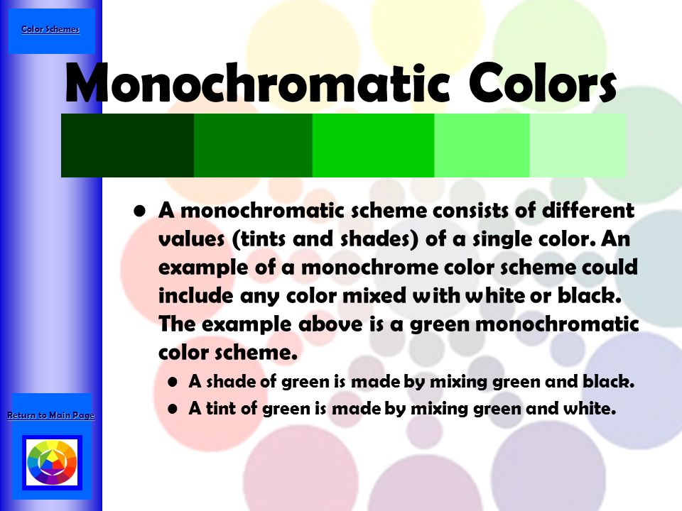 42 Color Schemes Monochromatic