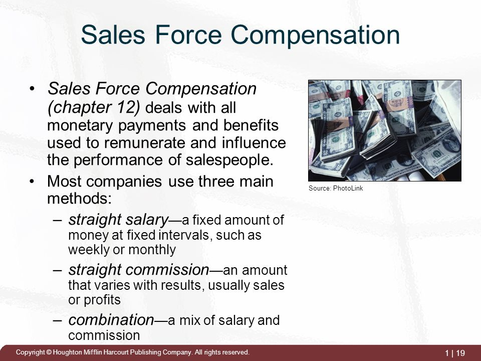 sales force compensation Salesforce compensation: an empirical investigation of factors related to use of salary versus incentive compensation created date: 20010815121649z.