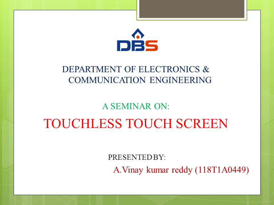 TOUCHLESS TOUCH SCREEN