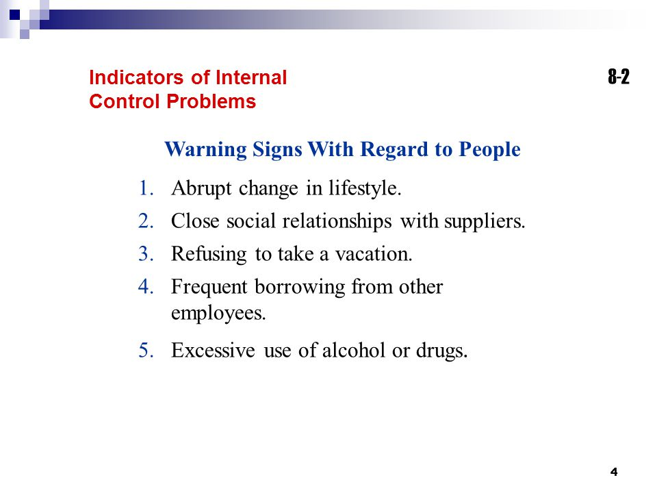 Warning Signs With Regard to People