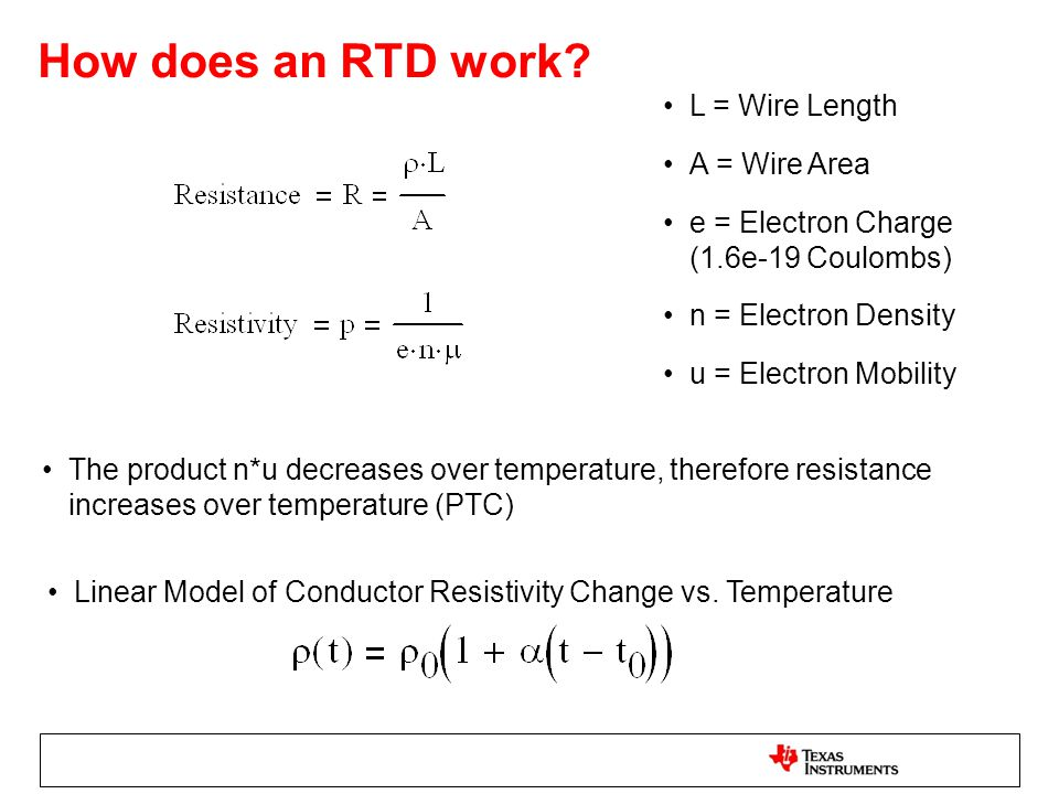 Wire length resistance increase image collections wiring table and signal conditioning and linearization of rtd sensors ppt download how does an rtd work l wire greentooth Image collections
