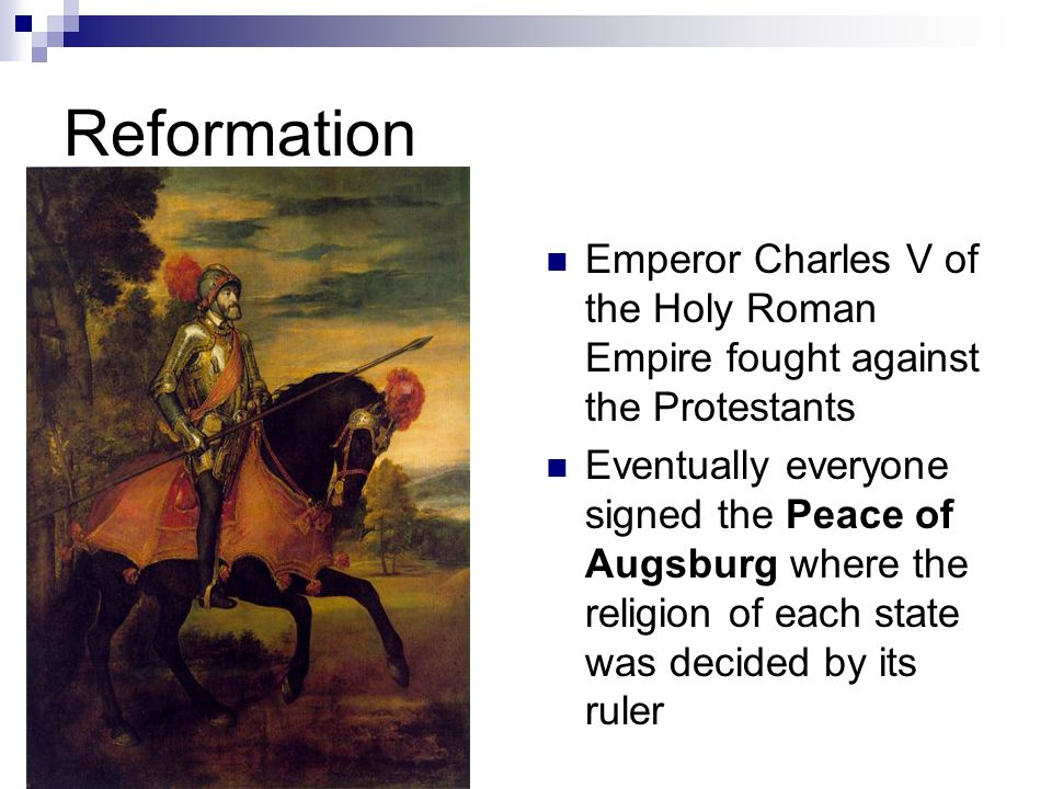 charles v reformation Charles v, emperor of the holy roman empire, against francis i of france, the battle of pavia, the revolt of ghent, and the conflict with the ottoman empire.