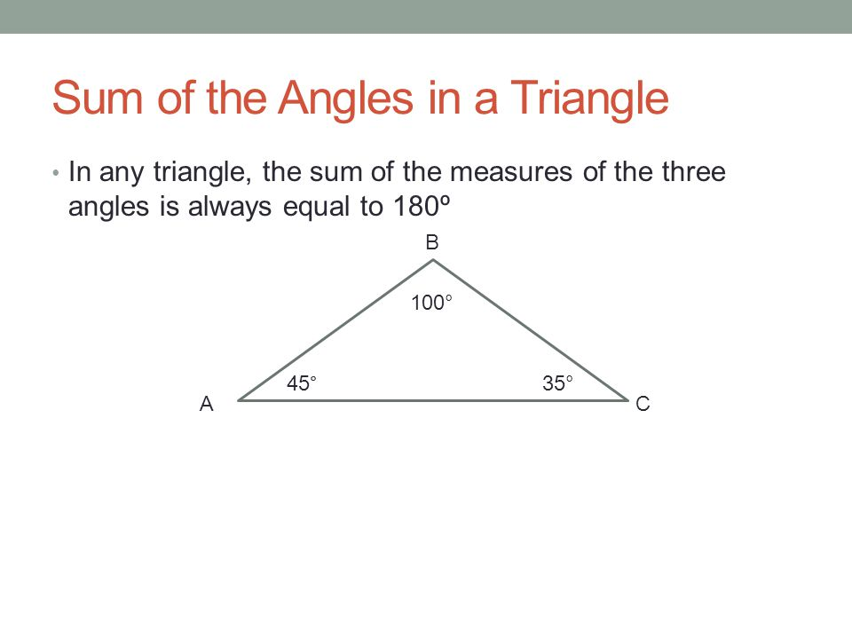 how to find angles of triangle when given one angle