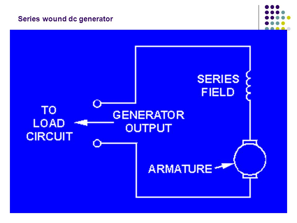 Series wound dc generator