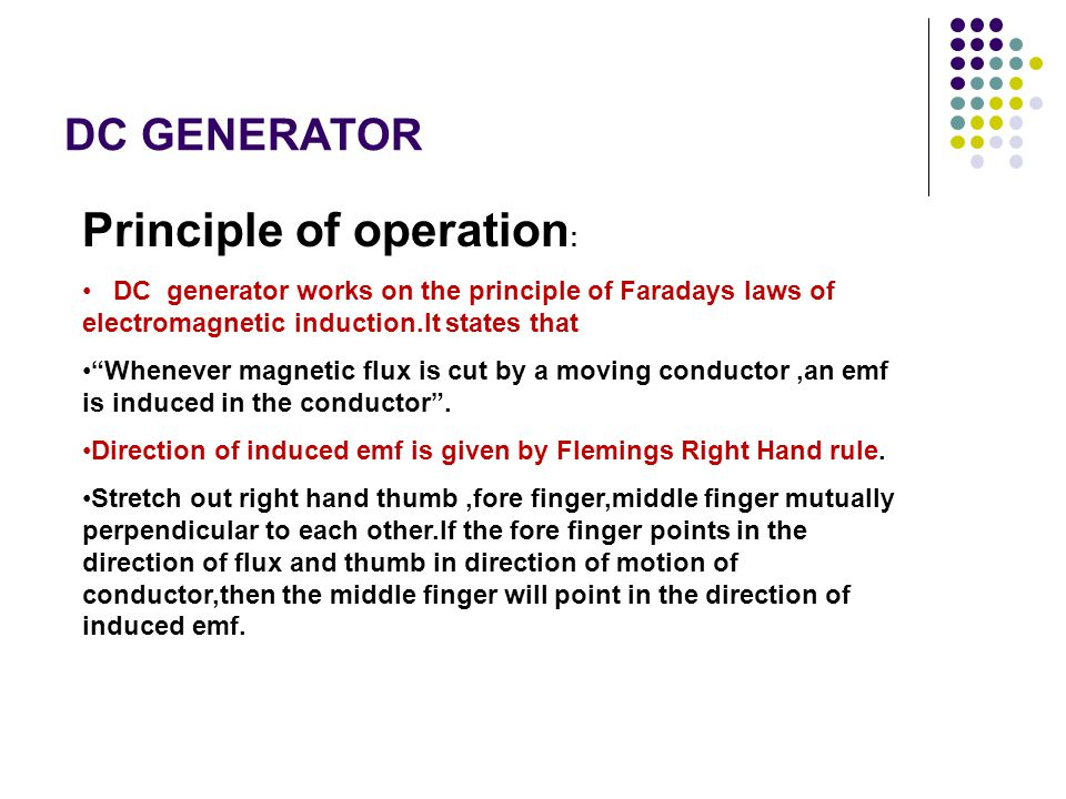Principle of operation: