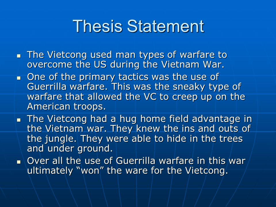 What thesis statement can I use for returning soldiers with PTSD?