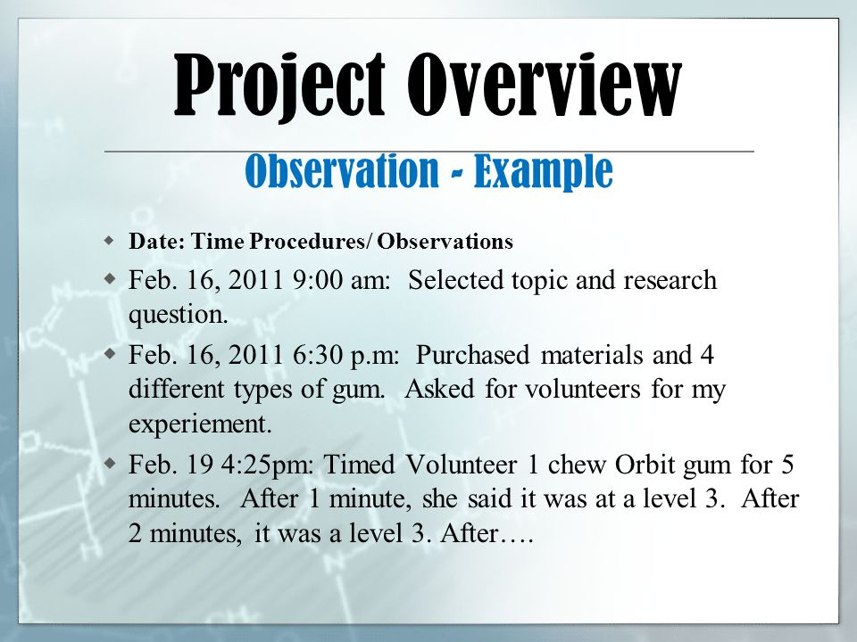how to write a summary for a science fair project