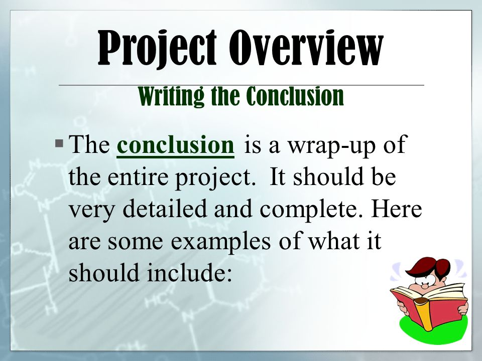 how to write a conclusion for a science project