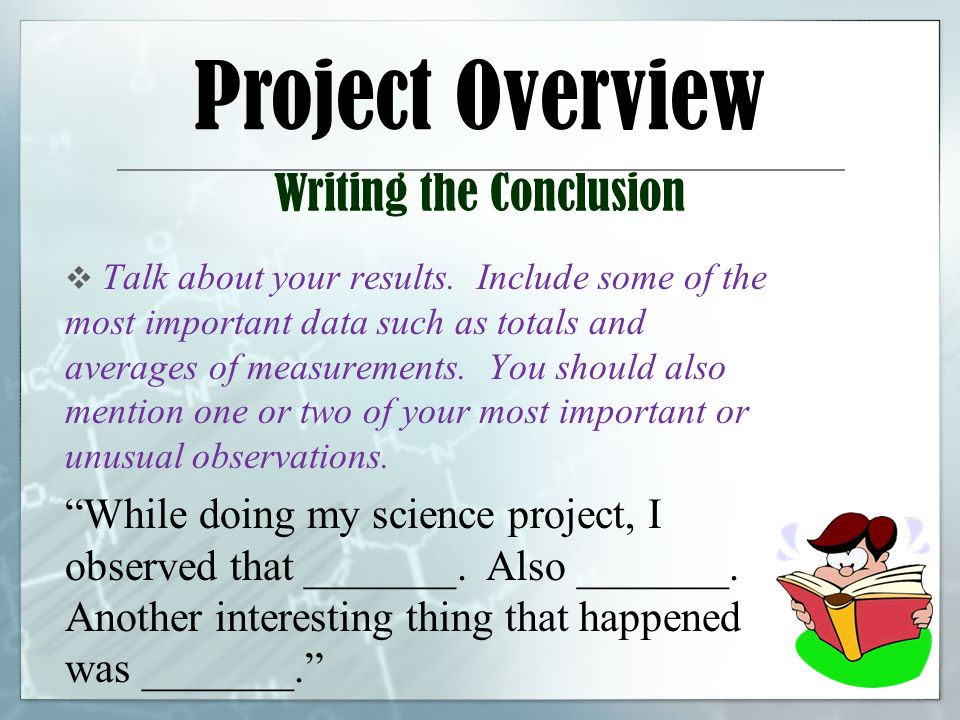 how to write a good science conclusion