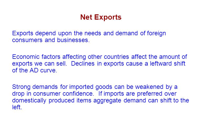 economic factors affecting uk exports The success or failure of a nation's economy can greatly affect consumer behavior based on a variety of economic factors if the economy is strong, consumers have more purchasing power and money is pumped into the thriving economy.