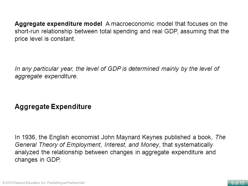 aggregate expenditure model focuses on the relationship between