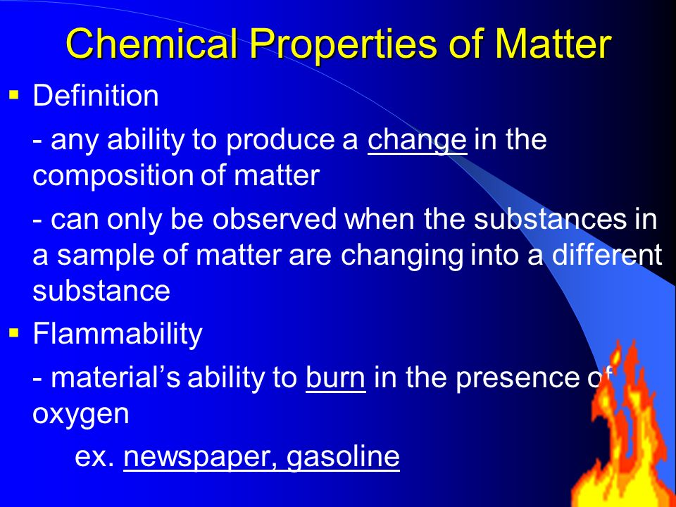 Is Flammability Of Gasoline A Physical Property