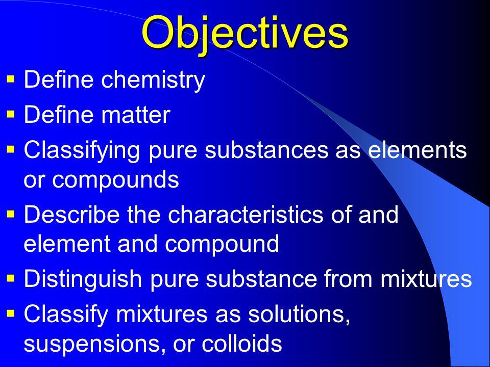 chemistry distinguish