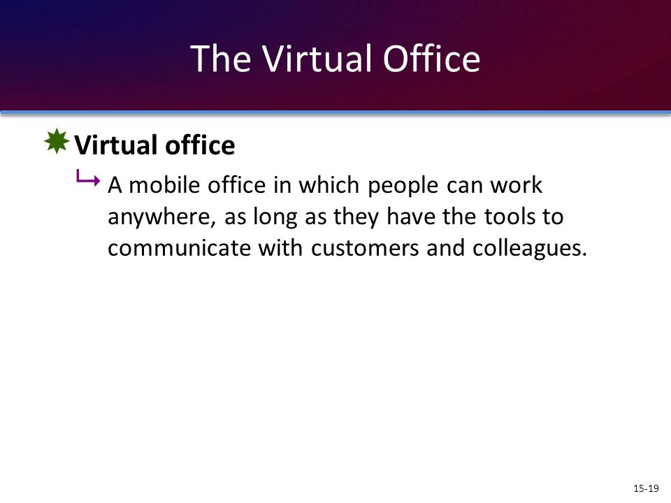 The Virtual Office Virtual office