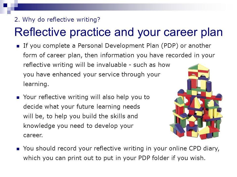 Reflective Practice : Writing and Professional Development