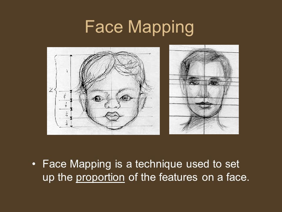 Face Mapping Face Mapping is a technique used to set up the proportion of the features on a face.