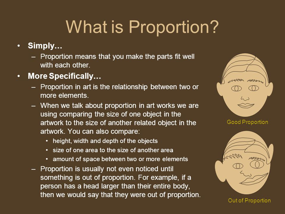 What is Proportion Simply… More Specifically…