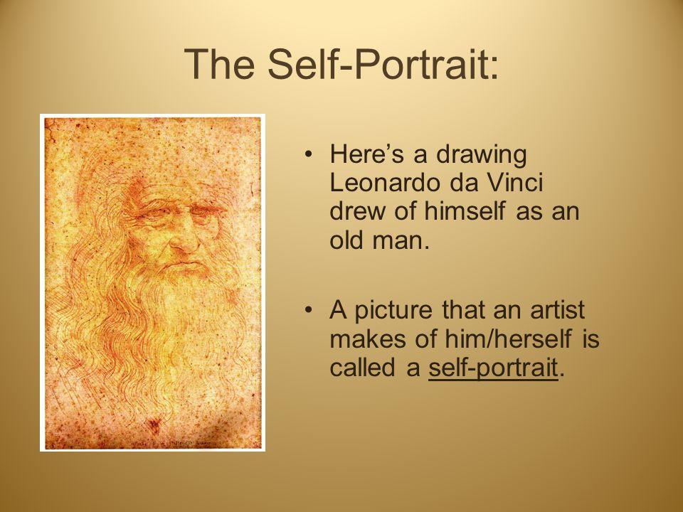 Contour Line Drawing Leonardo Da Vinci : Facial proportion and the self portrait ppt video online download