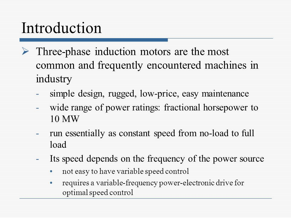 Induction motors ppt video online download for Variable frequency control of induction motor
