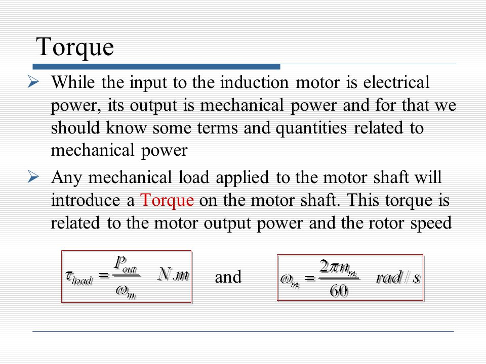 Induction motors ppt video online download for How to measure motor torque