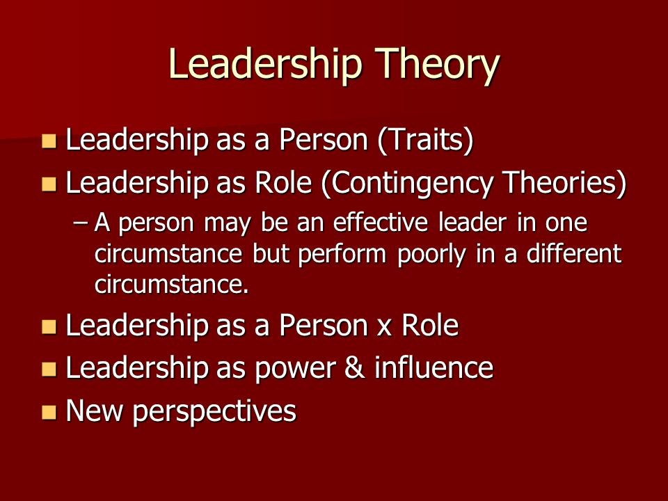 contingency theory of leadership effectiveness