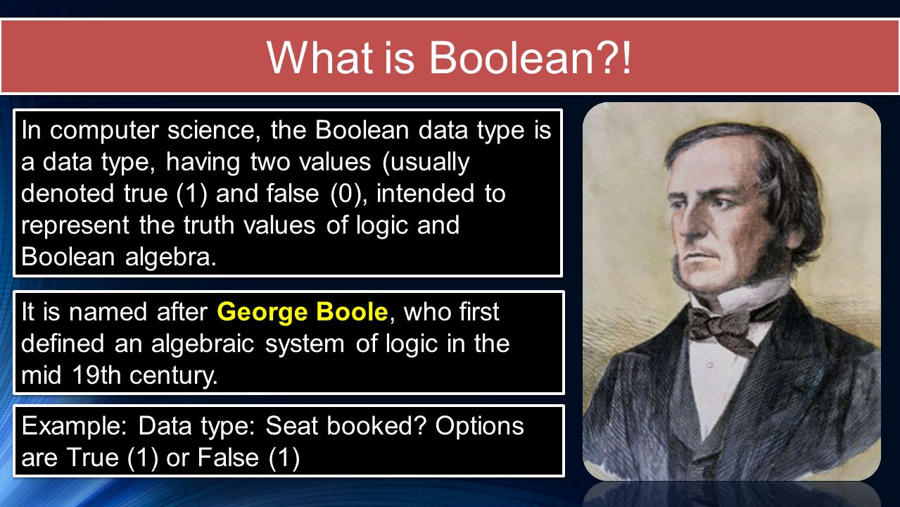 What is Boolean !