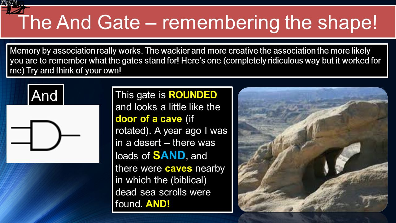 The And Gate – remembering the shape!
