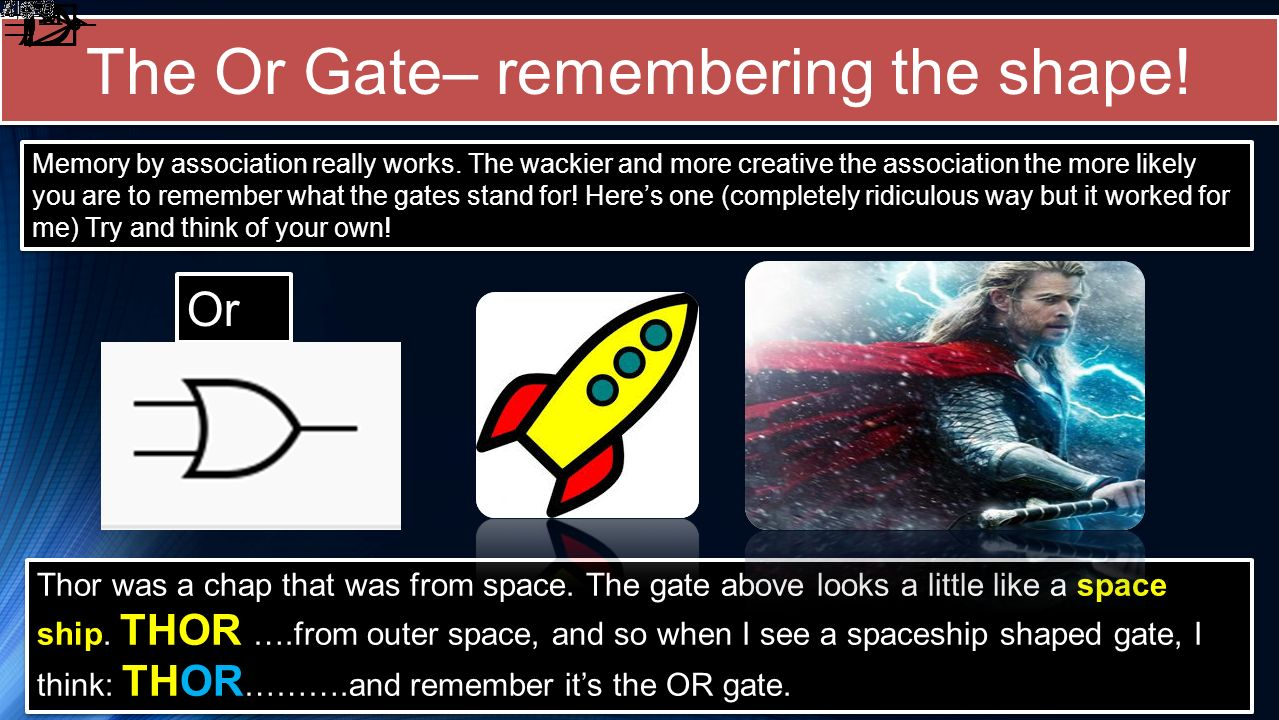 The Or Gate– remembering the shape!