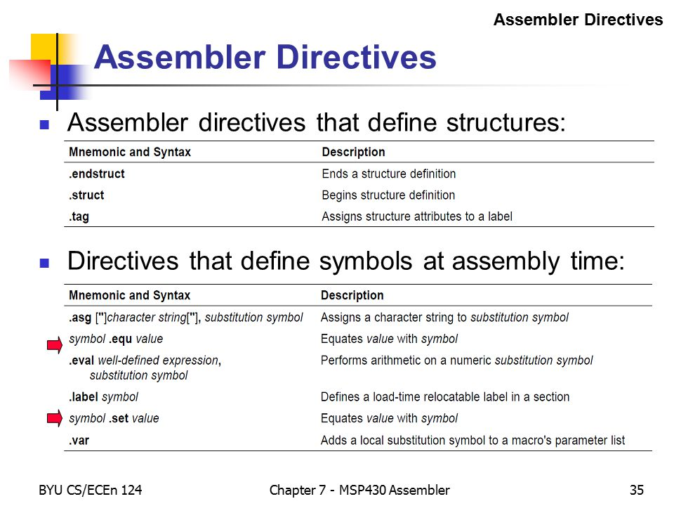 structure for assignment