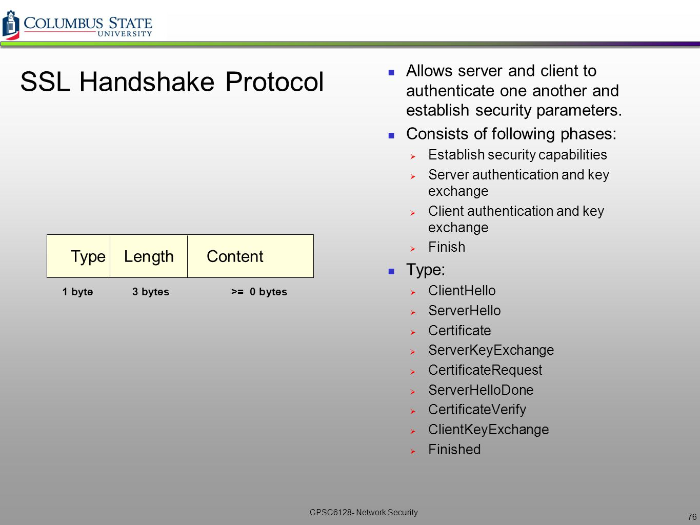Network security cpsc6128 lecture 7 ikessl vpns ppt download ssl handshake protocol xflitez Gallery