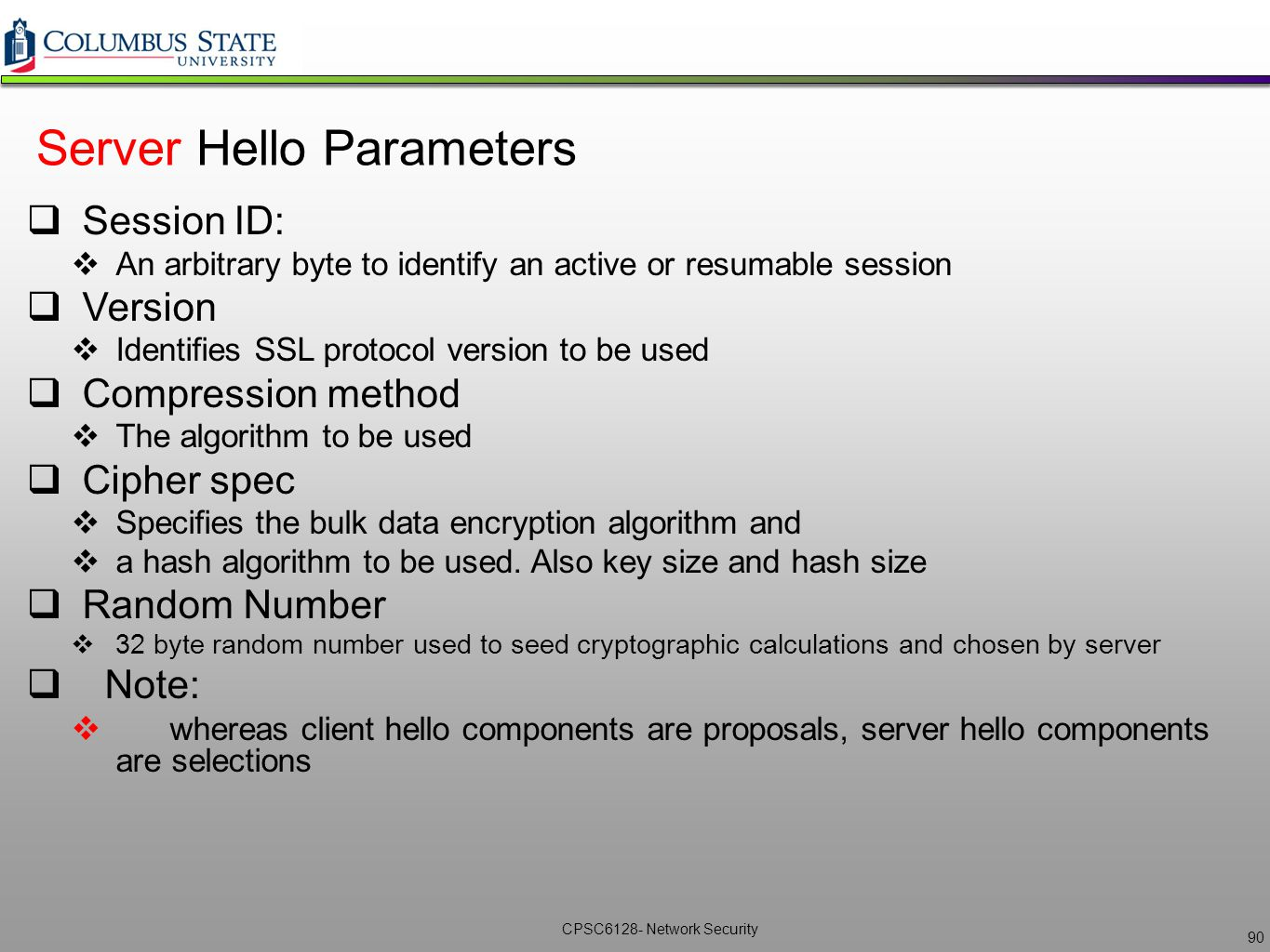 Network security cpsc6128 lecture 7 ikessl vpns ppt download server hello parameters xflitez Image collections