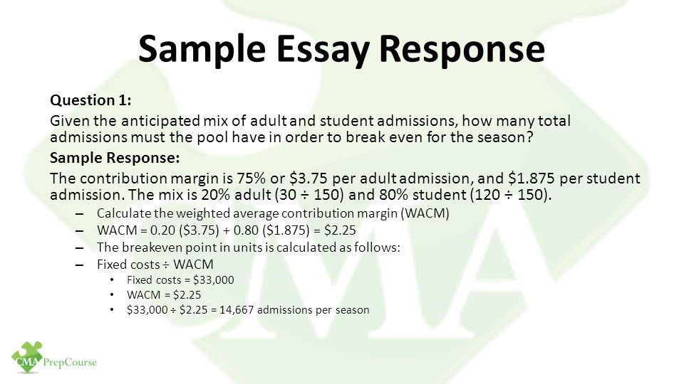 mba essay responses