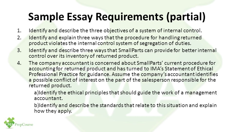 Identifying required process changes essay