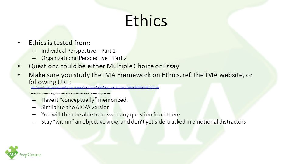 individual ethical perspective essay Individual ethical perspective in an attempt to obtain a clearer awareness of my own ethical perspectives, i completed the ethics awareness inventory this.