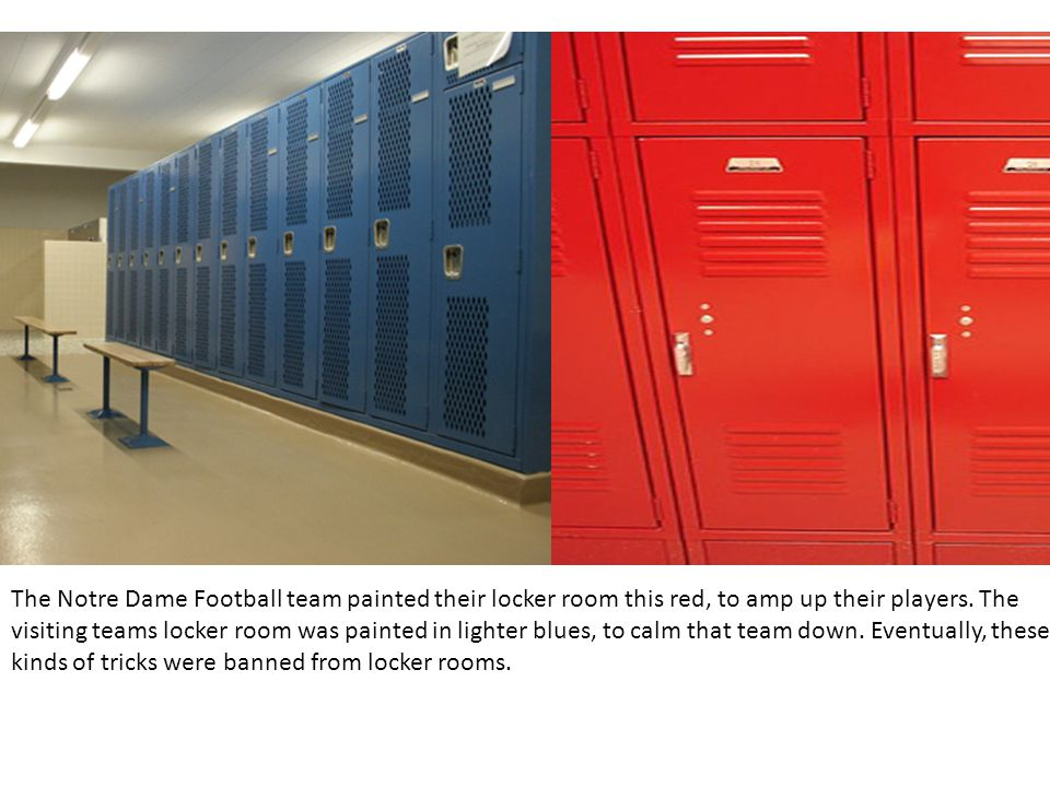 The Notre Dame Football Team Painted Their Locker Room This Red To Amp Up